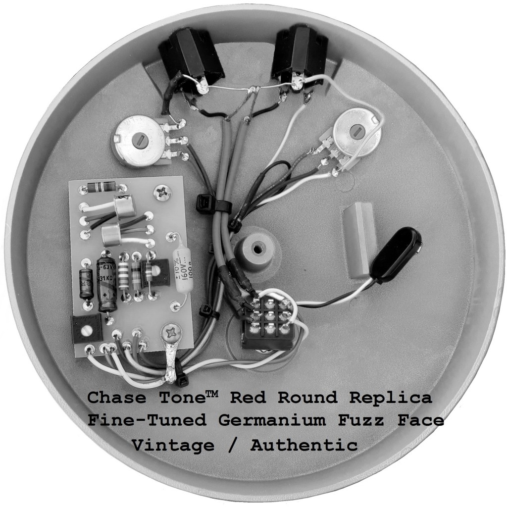 Jimmy Hendrix Fuzz Face Guitar Effect Schematic Diagram Dallas Arbiter Germanium Replica Chase Tone Red Round